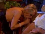 Hot wife gets banged after warm blowjob