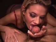 Nasty hottie banging two cocks together