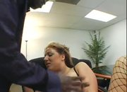 Horny officemates banging at work
