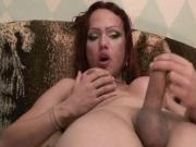 Mature tranny licks and bangs macho guy