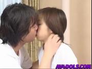 Mai is fingered before swallowing hard cock