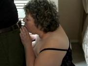 Fat amateur woman banging a black cock
