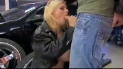 Sexy chick gets ass fucked in the garage