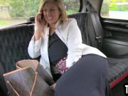 Busty mature blonde sucks her taxi drivers cock