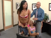Pretty office chicks banging their boss