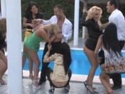 Amazing pool party that leads to orgy