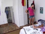 Cute Alaina Kristar and Sofia Rivera having a huge meaty cock