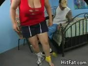 Busty BBW Banged By A Big Cock