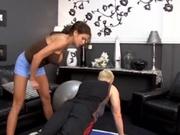 Fake titty wife rides a stiff cock