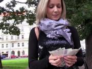 Real euro amateur sucks cock for cash