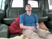 Hot gay humping straight cock in the sex bus
