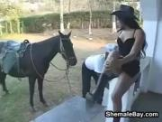 Shemale In An Interracial Threesome