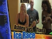 Ice Race with Ashley and Tiana