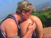 Sex milf sucks and fucks after sunbathing