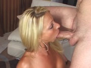 Mom with hot oily body fucks a dude