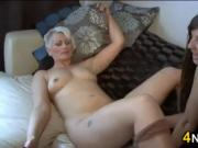 Blonde Gets Pantyhose In Her Pussy