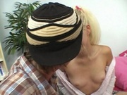 Blonde twins sucking a blessed guys dick