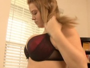 Big titted babe gets fucked sideways
