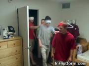 Blind Folded Gay Boy Sucking Dick At Dorm Room Party