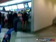 Russian Slut At The Restaurant