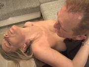 Busty milf gets her shaved pussy rammed