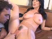 Hispanic mommy banging a younger guy