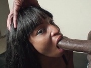 Sexy chocolate girl banging chocolate bar