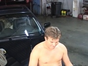 Mature blonde fucked in the garage