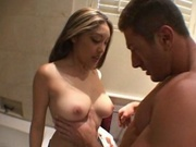 Hot asian gets fucked in the toilet sink