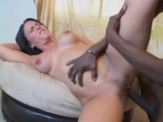 Tight pussy girl banging long black cock