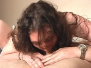 Mature woman enjoying a guys hard dick
