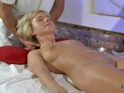 Massage blond model getting fingered and cant get enough
