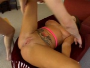 Hot latina gets her wide spread pussy fucked
