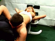 Busty latina fucked by her gym instructor