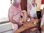 Girl gets pussy eaten by old man first time Staycation with a Latin