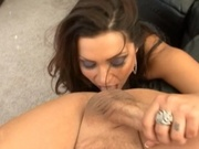 Fat ass mommy doing her best to make a guy cum