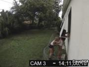 Lesbian graffiti chicks caught on security cam
