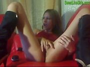 Hot blonde strips then masturbates(4).wmv