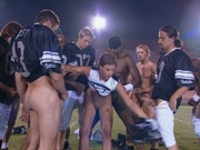 Football team banging an amazing hottie