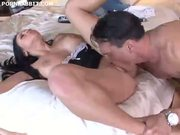 Hot latin servant fucked by her master