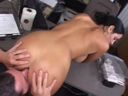 Busty secretary fucking her boss in the office