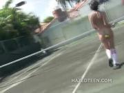 Tenns court teen girls naked show