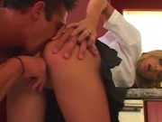 Beautiful girl gets her tight ass rammed