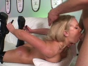 Sexy girl gets her holes fucked brutally