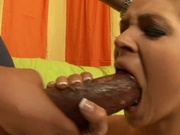 Hot babe fucking insanely huge black cock