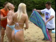 Sexy beach girls gets fucked in the ass