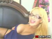 Blonde Latina Masturbating
