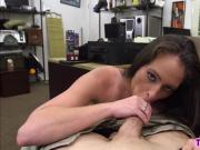 Sexy mature brunette banged and grinds into huge cock in the pawnshop