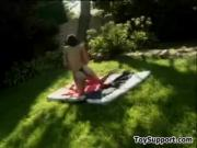 Lesbians Having Fun Outdoors