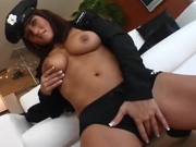 Hot police woman sucks hard cock